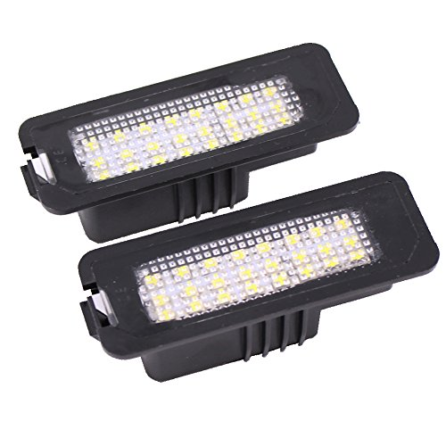 Paision 24-smd Error Free LED Number License Plate Lights for Vw Passat Polo Golf4/5/6 GTI Cc EOS Phaeton Seat Leon Altea (Pack of 2Pcs) (Seat Leon Parts compare prices)