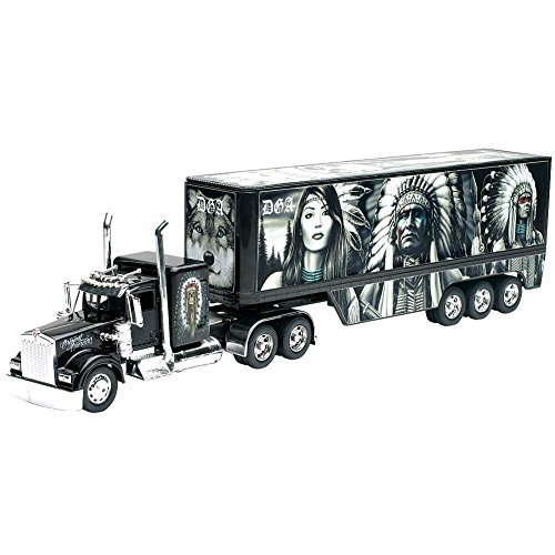 Native American Kenworth W900 Tractor/Trailer Truck 1:32 Scale Model Diecast (1 32 Die Cast Trucks And Trailers compare prices)