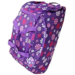 Extra Large 33 Inch Wheeled Holdall Bag (Daisy Purple)