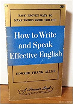Speaking and Writing English Effectively
