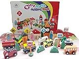 Vidatoy 32 pcs City Traffic Signs Building Block Set Wooden Toys For Kids