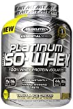 MuscleTech Platinum 100% ISO Whey Supplement, Vanilla Ice Cream, 3.27 Pound Bottle