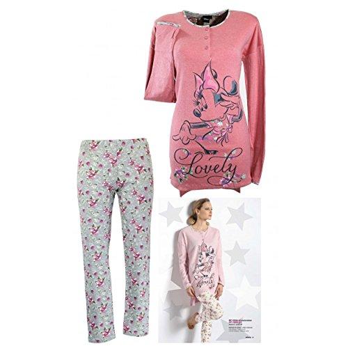 pigiama-donna-disney-minnie-cotone-interlock-s-m-l-xl-maxi-maglia-orchidea-20524