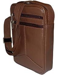 Style98 Brown Genuine Leather Travel Shoulder Bag For Men,Boys,Girls & Women