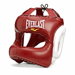 Buy Everlast MX Headgear - Red White by Everlast
