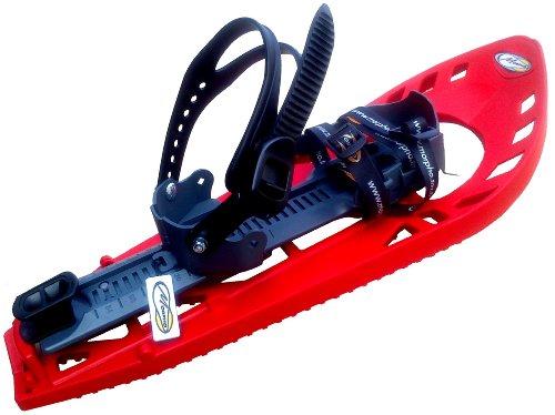 TRIMMY LIGHT Schneeschuhe, ROT/GRAU, mit Fußgelenk-Schnalle (Snowboard Type) ohne Polstereinlage, S