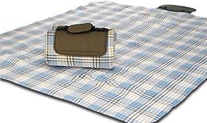 "Mega Mat Folded Picnic Blanket with Shoulder Strap - 68"" x 82"" (Wild Tarragon) by Picnic Time"