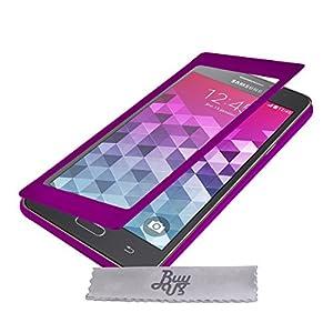 Etui Housse ExtraSlim Vitre et Stand Samsung Galaxy Grand Prime SM-G530FZ - Violet