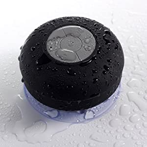 Bluetooth Speaker - Noot® SoundPod IPx4 HD Water Resistant Bluetooth Shower Speaker, HandFee Portable Speakerphone with Built-in Mic, Control Buttons and Dedicated Suction Cup for Bathroom, Pool, Jacuzzi, Boat, Car & Outdoor - All Apple iPhone's / iPad's
