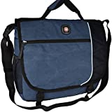 SwissGear Earth Messenger Computer Laptop / Ipad Case. Business Briefcase Blue