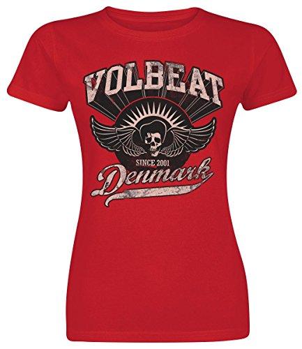 Volbeat Rise From Denmark Maglia donna rosso XXL