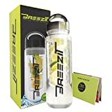 Breezit 24 Oz Sports Water Bottle With Infusers BPA Free Tritan Plastic-Dual Purpose Travel Bottles With Removable...