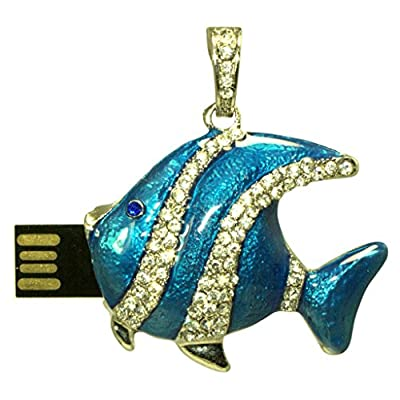 16 GB Pen Drive Blue Fish Shape USB 2.0 Pen Drive CR1034