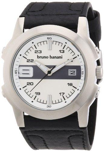 Bruno Banani - BR21093 - Montre Homme - Quartz Analogique - Bracelet Cuir Noir