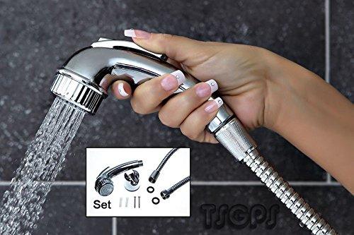TSGPS Sanlingo Bidet Intim Dusche mit Schlauch und Halter- Arabic Shower Toilette Badezimmer Sheila