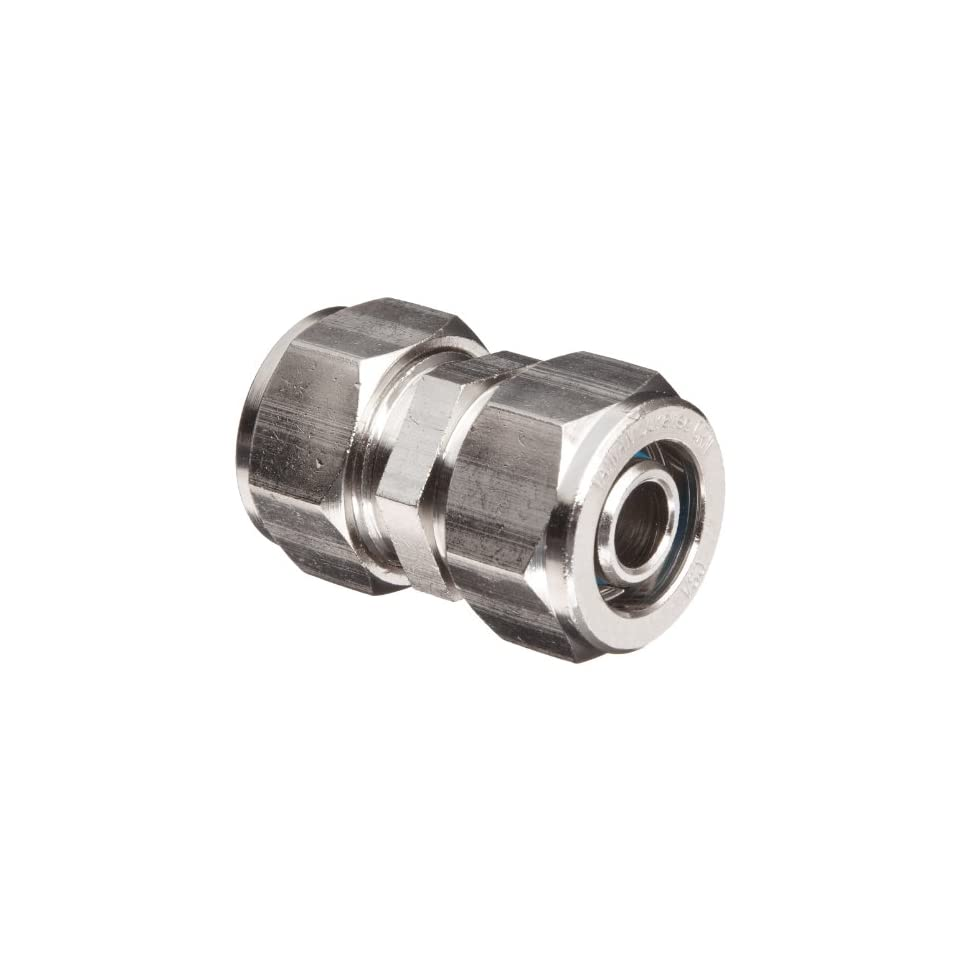 Polyconn PC62D 88 Duratec Nickel Plated Brass Pipe Fitting, Coupling, 1/2 NPT Male