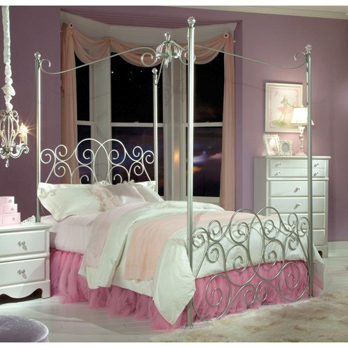 Twin Canopy Bed Frame 8431 front