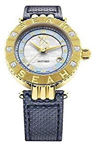 Seah Empyrean 42mm 18K Yellow Gold-Tone Swiss Automatic Luxury Diamond watch. Zodiac sign Sagittarius. 11/22-12/20 You are the traveler & Story teller of the Zodiac sign, tactful, wise & inspire laughter. Fire is your element.