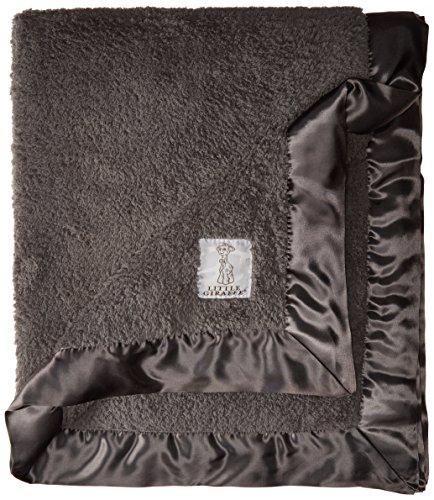 "Little Giraffe Chenille Baby Blanket 29""x35"", Charcoal"