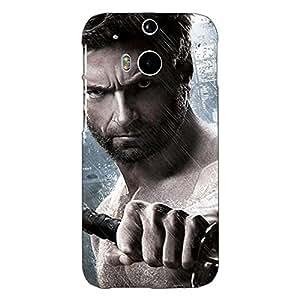 Jugaaduu Wolverine Hugh Jackman Back Cover Case For HTC One M8
