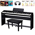 Casio PX350 Digital Piano With Furniture Stand, 3 Pedal System, Piano Bench, Lesson Books, and Headphones