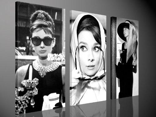 Adesivi Murali Audrey Hepburn.Fotografia Su Tela Audrey Hepburn Stampa Artistica Da Parete By Tom