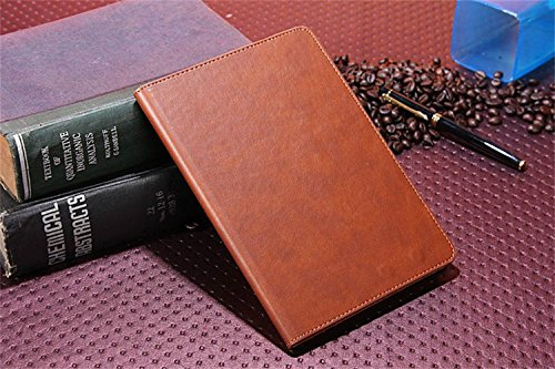 Borch Fashion Luxury Multi-Function Crazy Horse Leather Protective Light-Weight Folding Flip Smart Case Cover For Ipad Mini 1 2 (Brown)