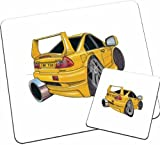Personalised Koolart Mitsubishi Lancer 5 Car Wood Table Mat Set