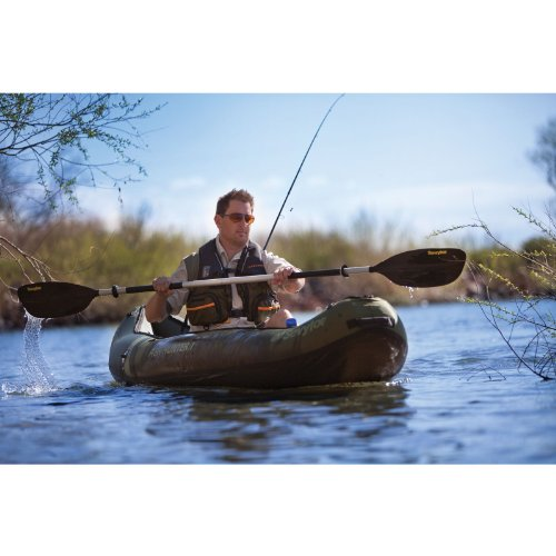 Sevylor rio 1 person fishing canoe for Coleman s fish