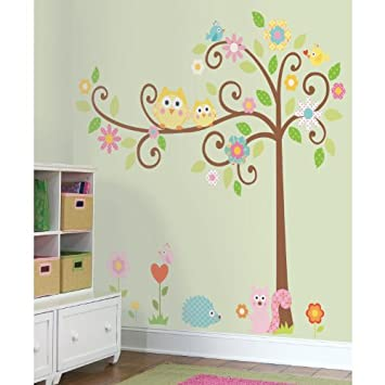 Popular Wall D cor RoomMates RMKSLM Scroll Tree Peel u Stick Wall Decal MegaPack