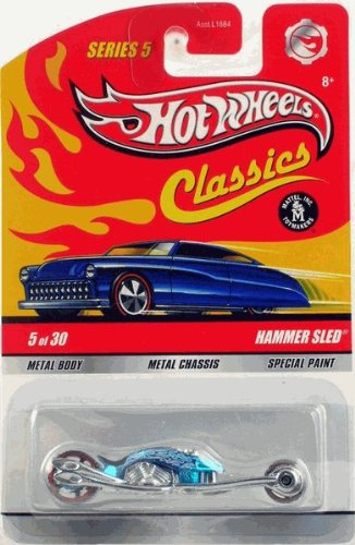 HAMMER SLED (BLUE) Hot Wheels Classics 1:64 Scale Die Cast Vehicle