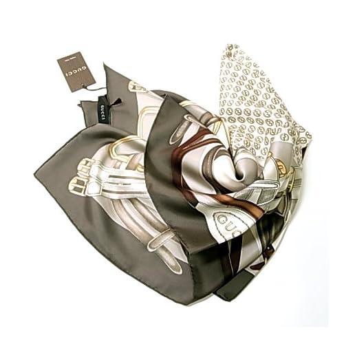 (グッチ) GUCCI KRAMER TWILL シルクスカーフ G-5458 [並行輸入品]