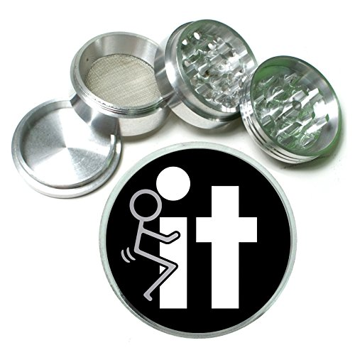 @#$% It Funny Stick Figure 4 Pc. Aluminum Tobacco Spice Herb Grinder (Funny Herb Grinder compare prices)