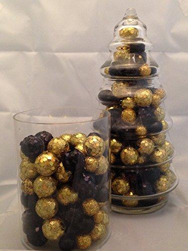 Black and gold glitter styrofoam balls table confetti for 15 creative vase fillers