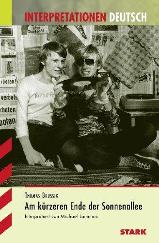 Buchseite und Rezensionen zu 'Interpretationshilfe Deutsch / THOMAS BRUSSIG: Am kürzeren Ende der Sonnenallee' von Michael Lammers