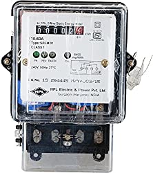 HPL Single Phase 2 Wire Electrical Energy KWH Meter (White, Pack of 1)