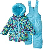 Big Chill Baby Girls' Multi Dot Snowsuit, Turquoise, 24 Months