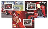 The Ferrari motorsport racing stars stamp set with 3 sheets featuring Michael Schumacher and Rubens Barrichello - 2003 / Benin