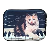 Cat on Piano 7 Inch Tablet Ipad Mini Case Pouch Sleeve 6