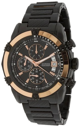 Guess High-Gear Chronograph Black Dial Mens Watch SU22503G1