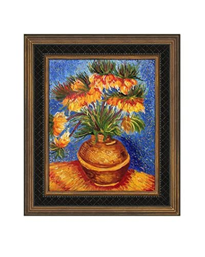 Vincent Van Gogh's Crown Imperial Fritillaries Framed Hand Painted Oil On Canvas, Multi, 14 x 12