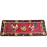 Cushioned French Country Rooster Rug