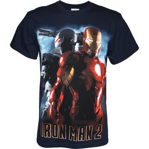 Iron Man 2 Iron Man & War Machine Men's TShirt, Medium