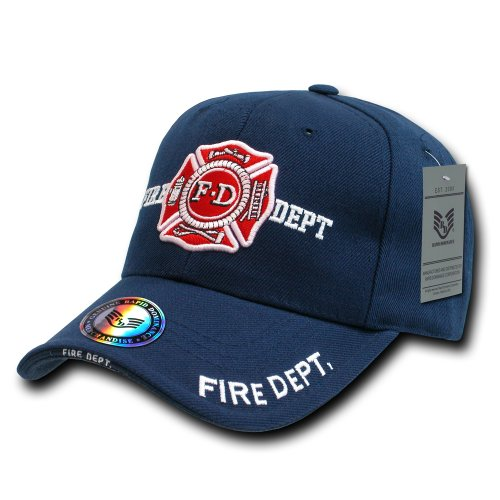 Rapiddominance Fire Department DeLuxe Law Enforcement Cap, Navy (Firefighter Cap compare prices)