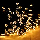 INST Solar Powered LED String Light, Ambiance Lighting, 54.5ft 17m 100 LED Solar Fairy String Lights for Outdoor, Gardens, Homes, Christmas Party (Warm white)