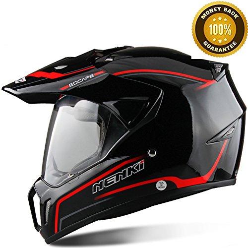 A.B Crew DOT Motorcycle Helmet Flip Up Shield Dirt Bike Helmet Off Road Helmets Motocross Helmet
