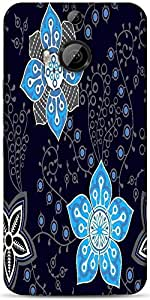 Snoogg Colorful Floral Seamless Pattern In Cartoon Style Seamless Pattern Designer Protective Back Case Cover For HTC M9 Plus