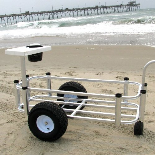 a surf fishing cart is a must to get all your gear to the