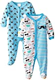 BabyGear Baby-Boys Newborn 2 Pack Sleeper Set-Mustache