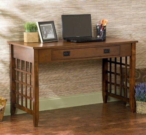 Buy Low Price Comfortable Lattice Computer Desk – Brown (B002QWAE9M)